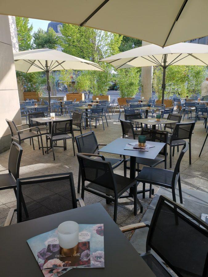 Ein Teil des Außenbereichs des neuen Wilma Wunder Stuttgart