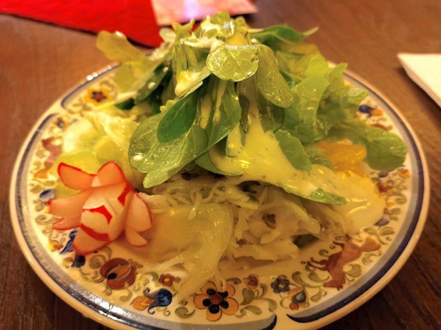 Salatteller zu den Maultaschen im Jägerhof