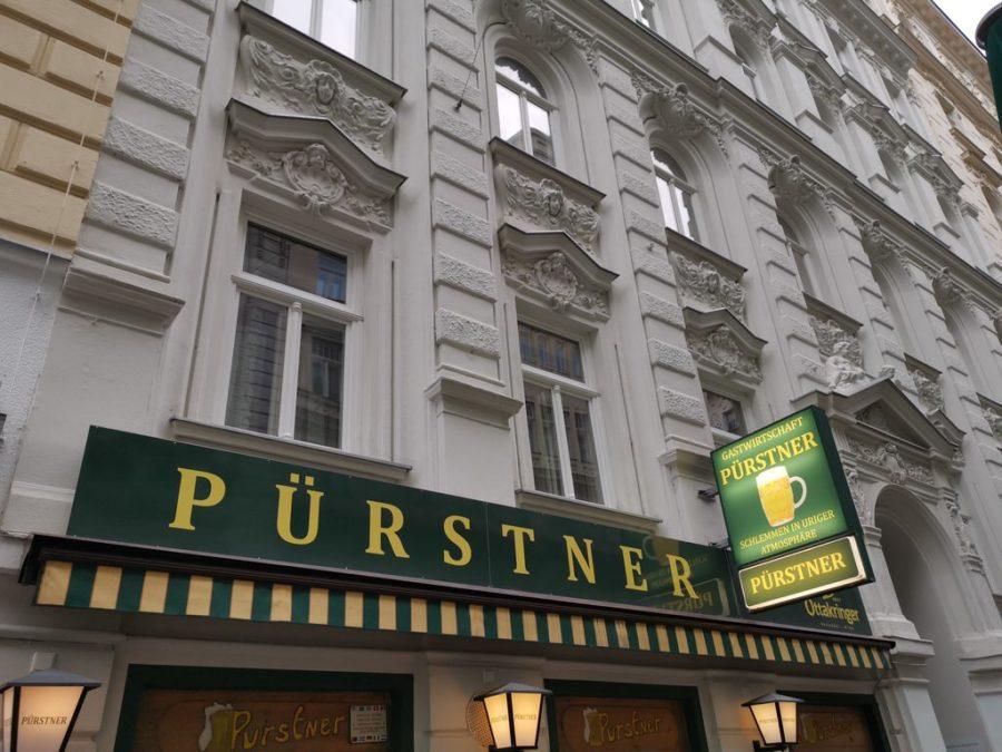 Die Gastwirtschaft Pürstner in Wien von außen