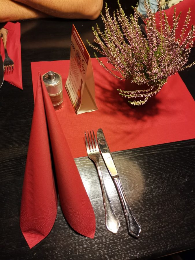 Tischdeko im Viertelesschlotzer Stuttgart