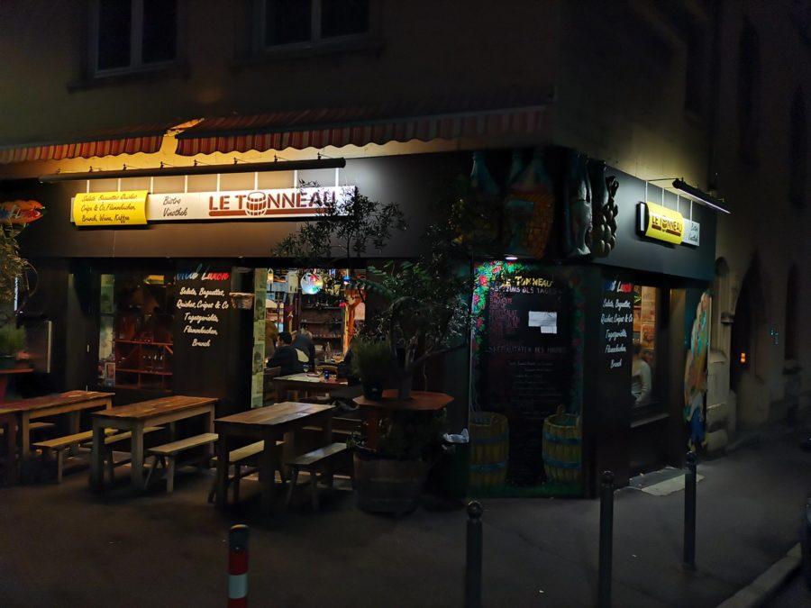 Das französische Bistro Le Tonneau am Rosenbergplatz Stuttgart