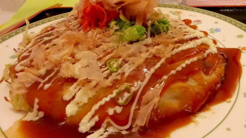 Okonomiyaki mit Fleisch