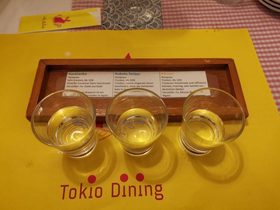 Reisewein (Sake) Probe im Tokio Dining (7,90 EUR)